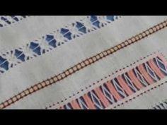 CAPRICHOS DE BOLILLOS Vainica 3 pasos Drawn Thread, Thread Work, Embroidery Patterns, Hand Embroidery, Bobbin Lace, Needlework, Bohemian Rug, Crafty, Youtube