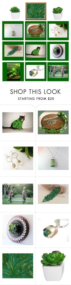 Green Thumb by therusticpelican on Polyvore featuring Versace, modern, contemporary, rustic and vintage