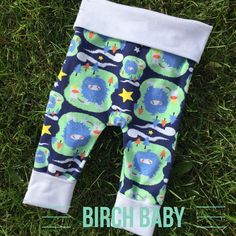 Wild Thing Grow With Me Pants by MyBirchBaby on Etsy
