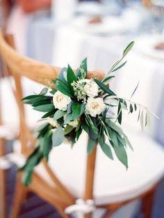 Ceremony chair flowers   Photography: The Grovers Read More: https://www.stylemepretty.com/2018/06/07/elegant-outdoor-villa-motalvo-wedding/ #weddingflowers #ceremony