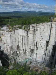 Vermont granite mine.  We don't have impressive gems in New England, but we have lots of granite.