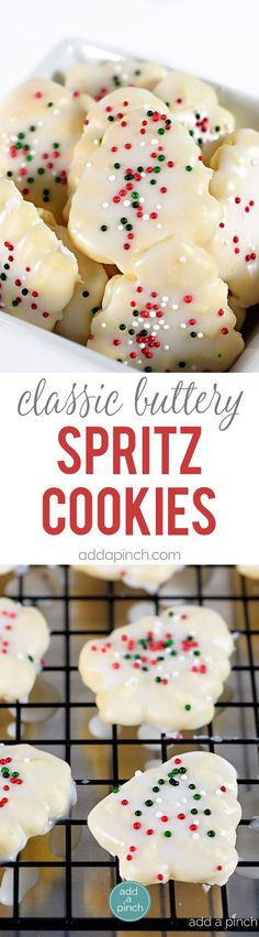 Classic Buttery Spritz Cookies make an easy delicious buttery cookie that comes…