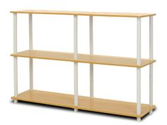 Furinno 99130BEWH TurnNTube 3Tier Double Size Storage Display Rack BeechWhite *** Read more reviews of the product by visiting the link on the image.Note:It is affiliate link to Amazon.