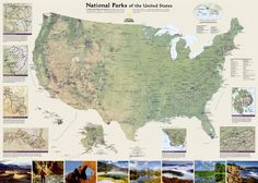 U.S. National Parks Wall Map