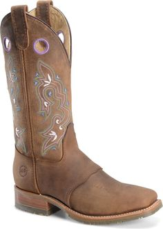 Double H Boot 12 Inch Steel Toe Work in Brown - Double H Boot Womens Western on Shoeline.com
