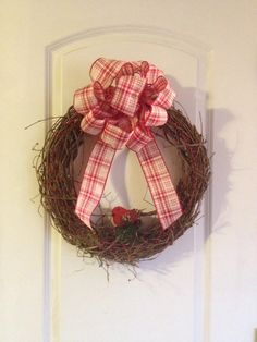 Country Christmas Grapevine Wreath