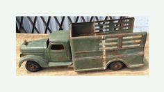 Vintage Buddy L Green Tonka Truck 22 Inches Long - 1