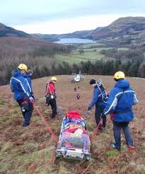 mountain rescue in action