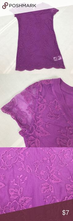 Purple lace Aeropostale XS Purple lace Aeropostale XS Aeropostale Tops Tees - Short Sleeve