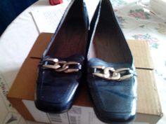 Liz Claiborne Navy Blue  shoes 6.5 medium ECU #LizClaiborne #flats