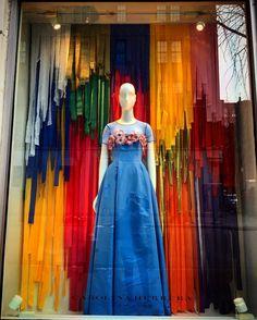 "CAROLINA HERRERA, New York, ""Paper Trail"", photo by Window Shop NYC, pinned by Ton van der Veer"