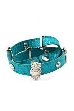 Owlette Charm Bracelet in Turquoise