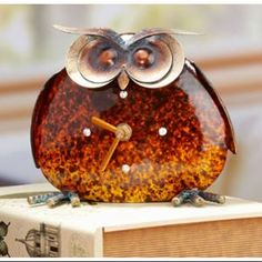 Pack of 3 Vibrant and Whimsical Owl Table or Desk Clocks