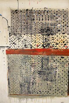 "Ward Schumaker - Djenné, 62"" x 42"", acrylic and paste on canvas"
