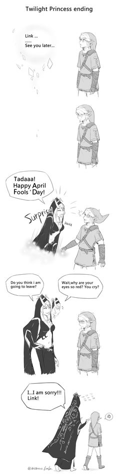 April Fools' Day! Poor Link.