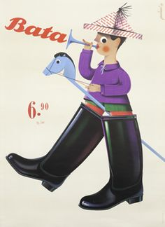 50s style poster: Asal, Paul poster: Bata (boy with stickhorse)