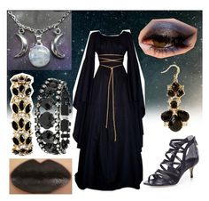 """""""Nyx, goddess of the night"""" by shafog ❤ liked on Polyvore featuring Rachel Roy, Forever 21, Helene Zubeldia and Ann Taylor"""