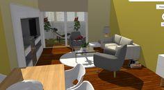 Vista interior de salón