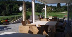 www.kgcdellach.at Ausblick der Terrasse vom Clubhaus auf den Platz