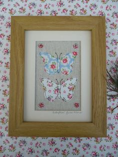 Handmade Butterflies Framed Picture with choice of frame, Cath Kidston fabric | eBay