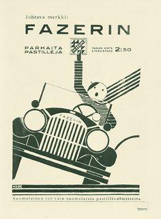 Mainos: Fazerin pastillit, 1930