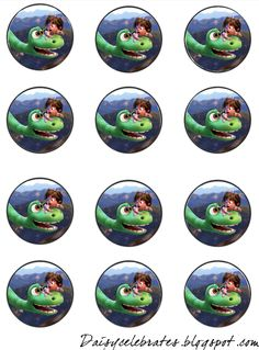 Dinosaur Birthday Party, Baby Birthday, Birthday Parties, Dinosaur Printables, Circle Labels, The Good Dinosaur, Bottle Cap Images, Party Themes, Projects To Try