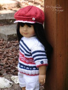 Hand knit Sweater and Newsboy Cap set by DebonairsDesigns, $24.95