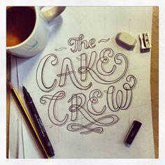 The Cake Crew logo by Tobias Hall, via Behance