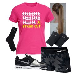 """""""2nd official vball practice!!"""" by queen-hstyles ❤ liked on Polyvore featuring NIKE and Volleyball"""