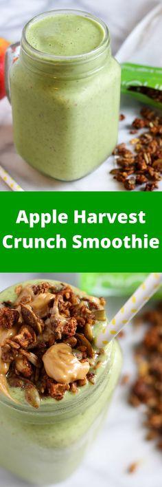 Apple Cinnamon Harvest Granola Smoothie!