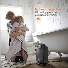 Best Bathroom Heater for Those Chilly Mornings.  The Opolar Bathroom Heater comes equipped with IP21 that will protect the heater from any condensation or drips. This makes it ideal for bathroom use.    #AdvanceMyHouse #BathroomHeater Modern Bathroom, Small Bathroom, Bathroom Layout, Bathroom Wall, Best Space Heater, Gfci Plug, Diy Heater, Philadelphia Shopping, Bathroom Heater