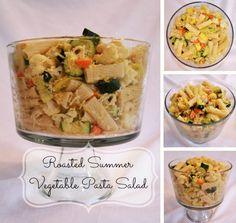 Roasted Summer Vegetable Pasta Salad w/ Kraft Fresh Take #cbias #FreshTake - Simple Sojourns
