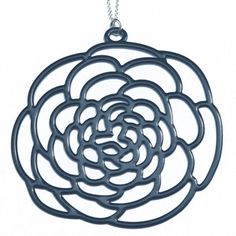 Camellia Necklace Large Navy now featured on Fab.