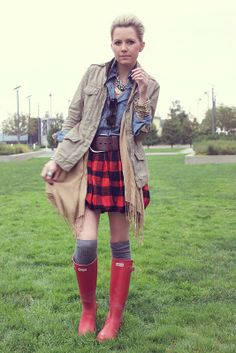 Atlantic-Pacific is a fashion and personal style site by Blair Eadie. Red Hunter Boots, Hunter Wellies, Crew Cuts, Karen Walker, David Yurman, Hunter Wellington Boots, Chloe, Atlantic Pacific, Inspiration Mode