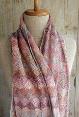 "Sophie Digard ""On the Top"" Scarf - crochet by Lisbeth Johansen Love Crochet, Crochet Motif, Beautiful Crochet, Crochet Shawl, Hand Crochet, Crochet Lace, Crochet Patterns, Knitted Shawls, Crochet Scarves"