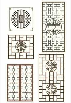Chinese Design, Asian Design, Chinese Style, Interior Chino, 3d Templates, Chinese Interior, Chinese Element, Window Grill Design, Chinese Patterns