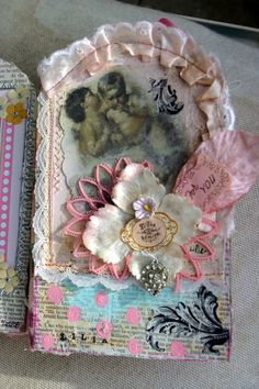 sweet page with ruffles and flowers