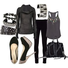 """ROCK & Sparkle"" by fleurdelove on Polyvore I'd for sure wear this to a show!"