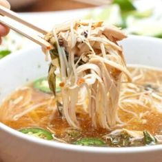 Crock Pot Chicken Pho - Served From Scratch Healthy Crockpot Recipes, Slow Cooker Recipes, Soup Recipes, Chicken Recipes, Cooking Recipes, Cooking Tips, Slow Cooking, Delicious Meals, Crockpot Meals