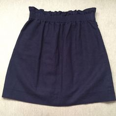 J. Crew paper bag linen mini skirt in navy Worn only once. Excellent condition. Feel free to ask any questions. No trades J. Crew Skirts Mini