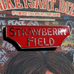 STRAWBERRY FIELD enamel pin badge liverpool beatles by MikeysArt