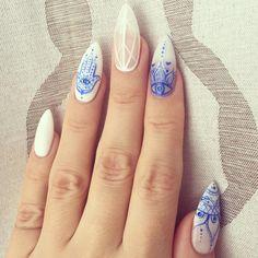 hamsa nail art stock photos new with