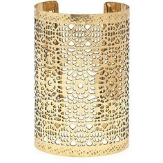 Forever 21 Ornate Cutout Cuff ($6.90) ❤ liked on Polyvore featuring jewelry, bracelets, cuff bangle, forever 21 bangle, forever 21, cut out jewelry and cuff jewelry