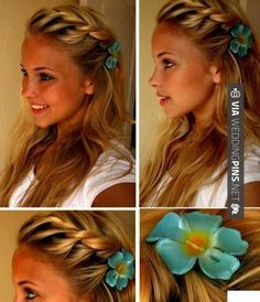 So neat! - Wedding Guest Hair - Twist braid | CHECK OUT THESE OTHER COOL TEMPLATES FOR GREAT Wedding Guest Hair AT WEDDINGPINS.NET | #weddingguesthair #weddingguests #weddinghairstyles #weddinghair #hair #stylesforlonghair #hairstyles #hair #boda #weddings #weddinginvitations #vows #tradition #nontraditional #events #forweddings #iloveweddings #romance #beauty #planners #fashion #weddingphotos #weddingpictures