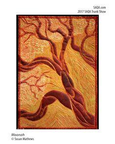 Art quilt by Susan Mathews Tree Quilt, Art Studios, Modern Contemporary, Animal Print Rug, Landscapes, Fiber, Quilting, Artists, Inspiration