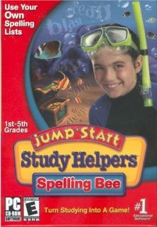 Turn Studying for Spelling Tests Into a Game!  With JumpStart? Study Helpers, your child simply enters his or her weekly spelling words into the computer and starts playing. Arcade-style activities provide entertaining practice with the words for improved test scores.  6 Levels: Games automatically adjust to your child's growing abilities Includes all critical spelling rules Instructions in English and Spanish, and word translationsEasy Input   Allows your child to enter spelling words for…