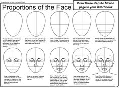 proportions of face worksheet