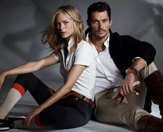 Massimo Dutti 2014 the Equestrian collection - David Gandy and Carolyn Murphy photographed by Hunter & Gatti