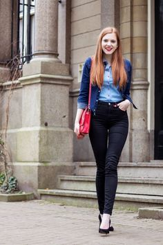 Outfit | Denim Jacket & a Black Pair of Jeans