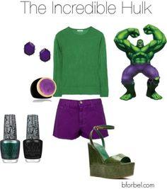 Incredible Hulk-Inspired Fashion - a little LOL here... kinda awesome. Minus the kill-myself-if-I-walk-on-them shoes!